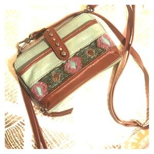 Beaded Leather Crossbody Wallet by The Sak!